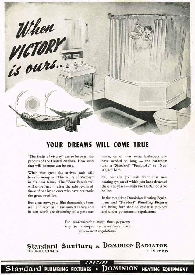 Vintage Ad #1,617: Victory Means a New Bathroom!