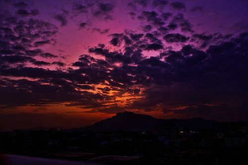 sunset sky cloud sun mountain clouds canon eos purple rays sanaa hdr sana d550