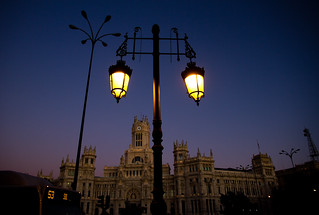 Image de Palace of Communication. madrid darkness nighttime