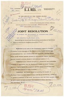 Gulf of Tonkin Resolution, as Introduced, S.J. Res. 189, 08/04/1964 (page 1 of 2)
