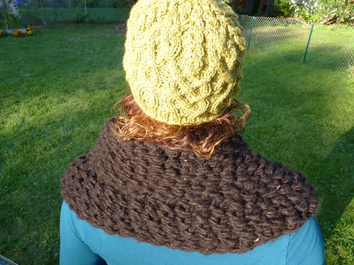 Chunky Cowl over shoulders