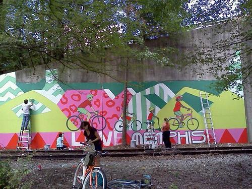 Greeline I Love Memphis mural, Memphis, Tenn.
