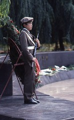 Young guard at the Unknown Soldier's grave Tashkent 1984