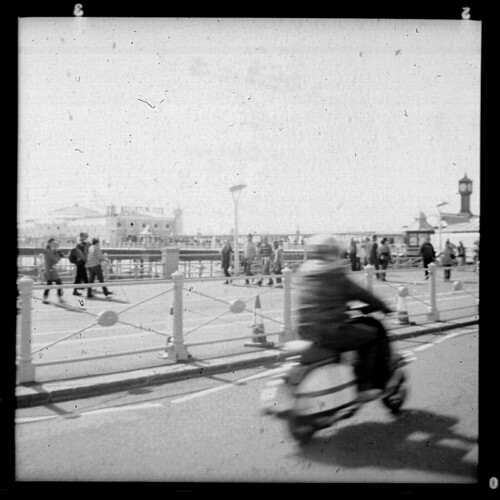 Kodak Cresta 3 Fomapan 100 Brighton Ace Cafe Scooter by Miles Davis (Smiley)