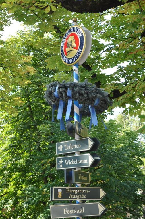 Interior de los jardines de Paulaner donde se indican los restaurantes y lugares que se pueden encontrar en el interior. Paulaner y el arte de la cerveza de Munich - 6175551645 801aaac62f o - Paulaner y el arte de la cerveza de Munich