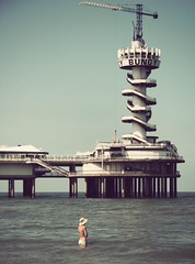 sea, ocean, landmark, vacation, pier, tower,