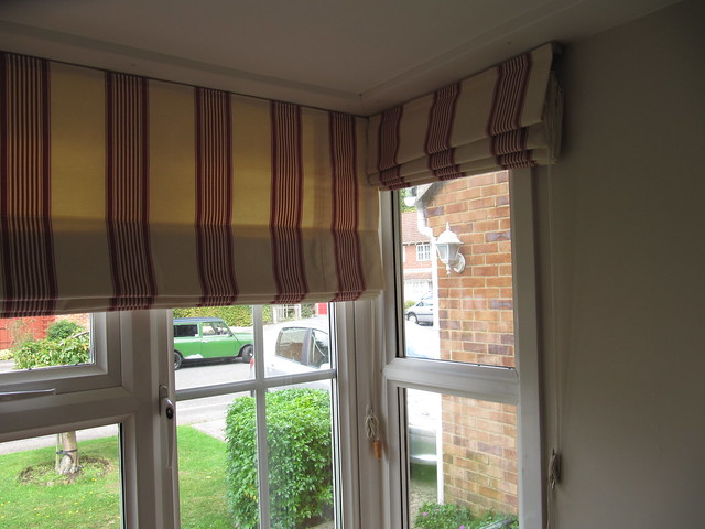 Roman blinds in a bay window flickr photo sharing for Roman shades for bay windows
