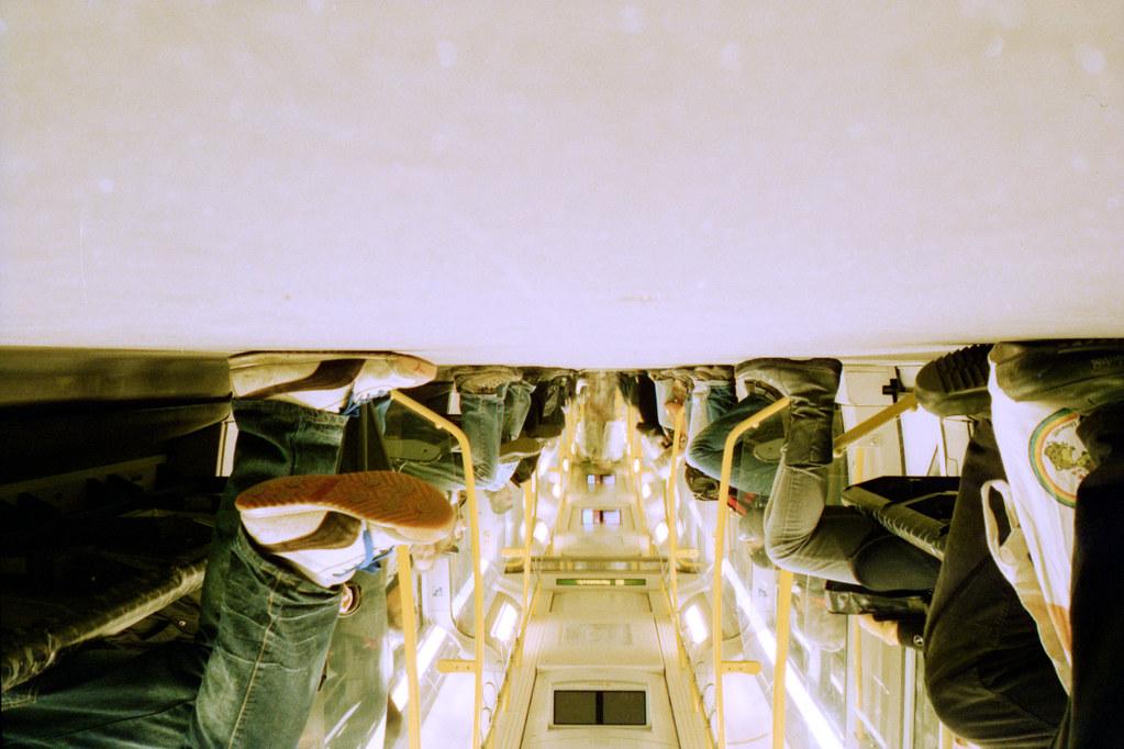 Berlin subway, upside down