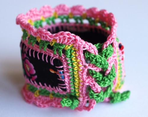 Multicolored Crochet edging lace jewelry bracelet