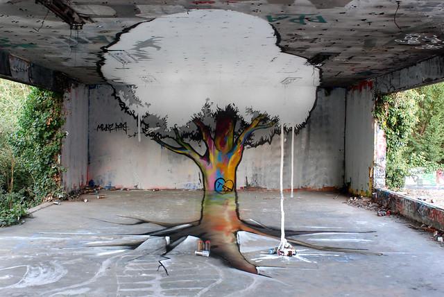 Arbre en anamorphose par Papy et Milouz  La vidéo de la réalisation:  www.dailymotion.com/video/xlfb3u_arbre_creation