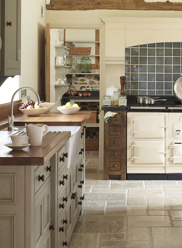 A traditional country kitchen.