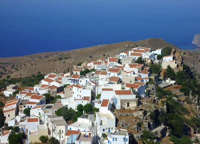 The village of Nikia on the island of Nisyros