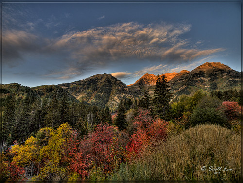 autumn trees mountains fall colors sunrise utah fallcolors sundance hdr alpineloop autumnfall scottlaw cloudsstormssunsetssunrises