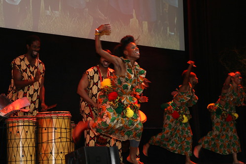 Bandan Koro African Drum and Dance Ensemble kicking off the evening