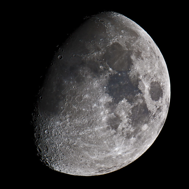 Waxing gibbous moon 6 october 2011 flickr photo sharing