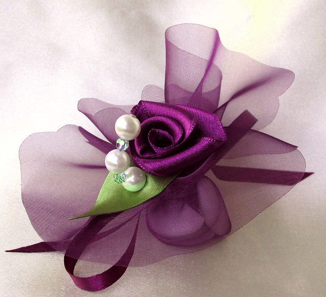 Rose Crystal Purple Bomboniera Wedding Favors