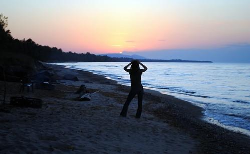 sunset woman lake beach beautiful mi rural sand midwest flickr quiet photographer michigan peaceful calm greatlakes lakesuperior ontonagon michigansupperpeninsula ontonagonmichigan craginspring michigansbeaches
