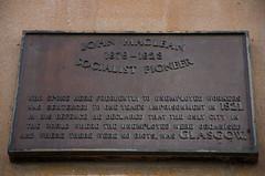 Photo of John Maclean brown plaque
