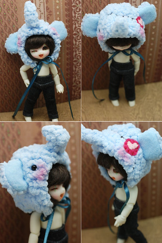 Pukipuki animal hat - blue pirate elephant