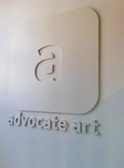 Internal embossed logo