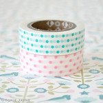 Dot washi tape for glittery wooden deer