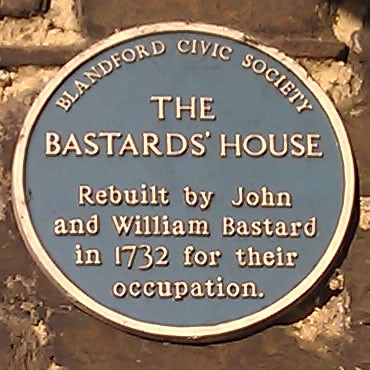 Photo of John Bastard and William Bastard blue plaque