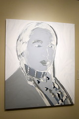 Denver - Civic Center: Denver Art Museum - Andy Warhol's The American Indian (Russell Means)