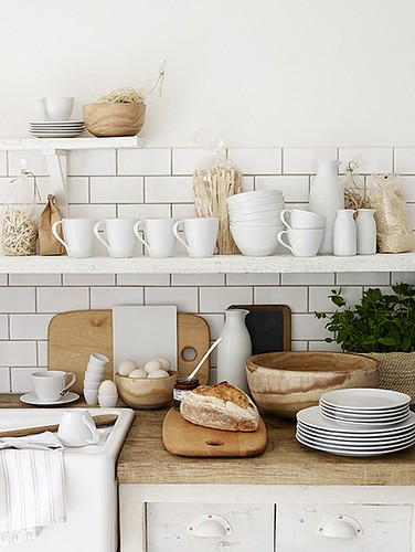 Chris everard white and wood rustic vintage industrial for Old modern kitchen