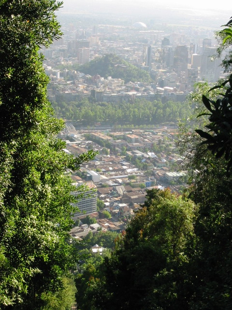 View from Cerro San Cristobal, Santiago