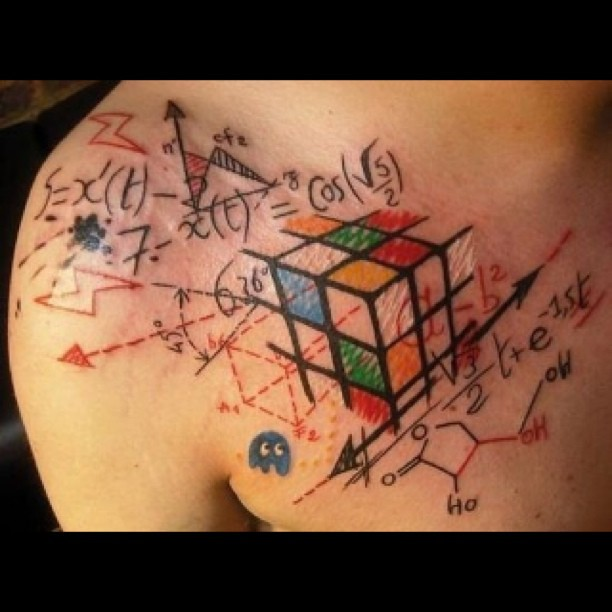 badass tattoo nerd rubixcube nofilter calculus flickr photo sharing. Black Bedroom Furniture Sets. Home Design Ideas