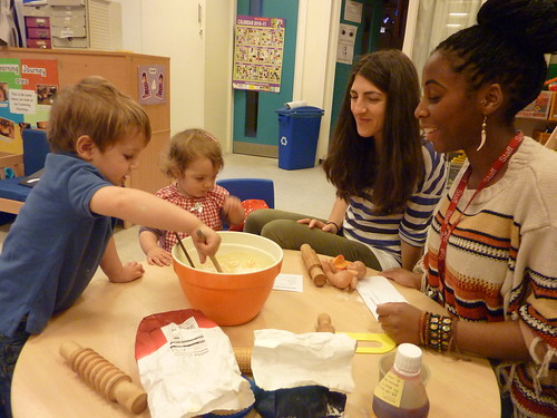 Child from Marsham Street nursery shows mum how it's done!