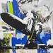 15 - Stuart Semple Pteromechanophobia Aryclic Charcoal Glitter Paintmarker on canvas 120x120cm 2011 by The Future Tense