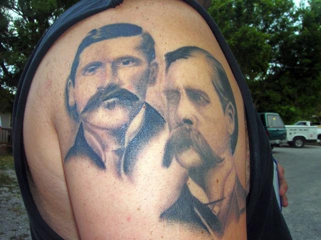 doc holiday and wyatt earp tattoo