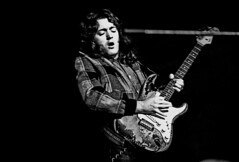 Rory Gallagher, Hamburg, 1973, by Heinrich Klaffs