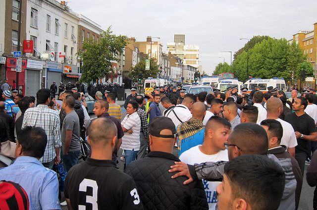 Police Lines : Anti-EDL Protests, London, September 2011