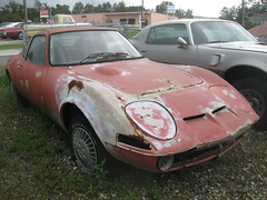 convertible(0.0), race car(1.0), automobile(1.0), vehicle(1.0), opel gt(1.0), land vehicle(1.0), sports car(1.0),