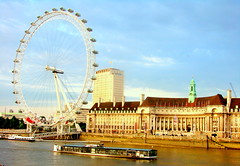 The London Eye over the River Thames