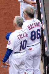 Terry Collins and Wally Backman During National Anthem