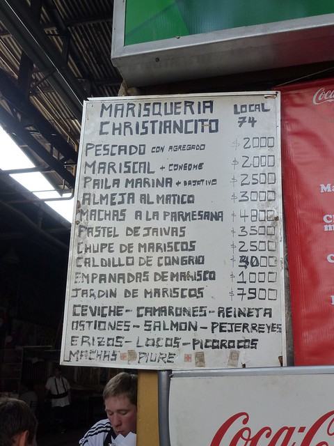 At the time, it was 750 pesos to the £1, so c.£2.60 a meal