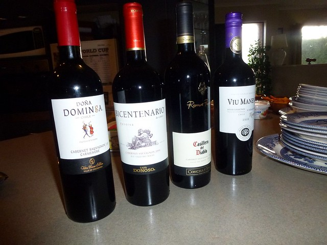 Some of the wine we brought over from Chile