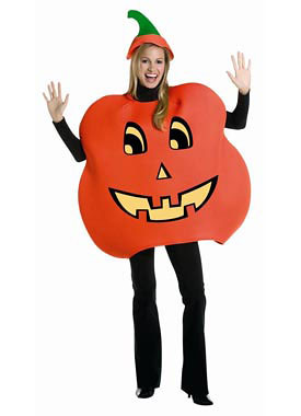 This adult pumpkin costume includes: an oversized foam pumpkin tunic and ...