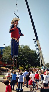 Big Tex is erect!