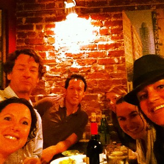 Dinner with awesome #coworking peeps!!
