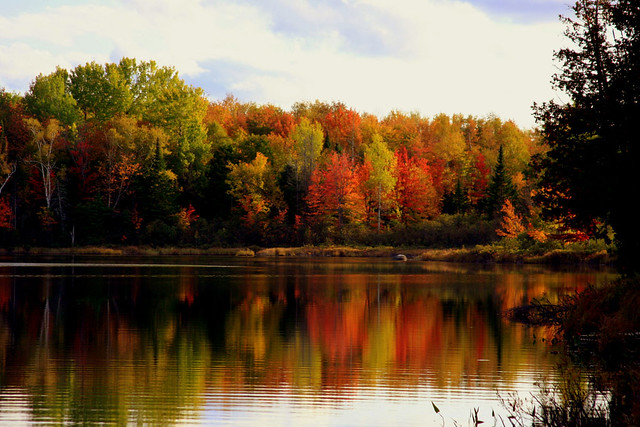 A favorite Maine foliage photo: Sawyer Pond near Moosehead Lake