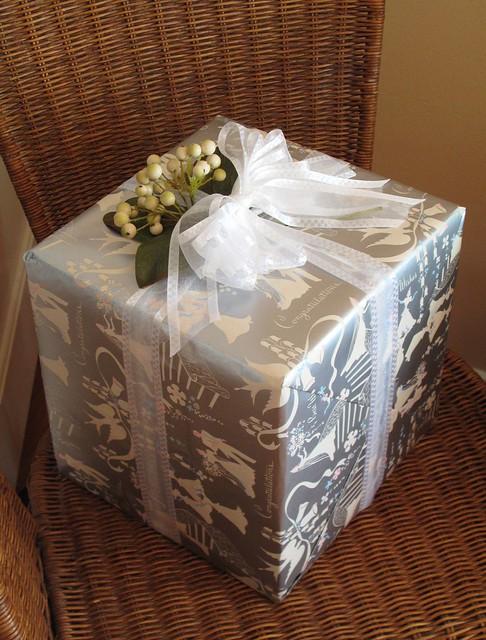 Wedding Gift 1 Vintage Sasheen Gift Wrap 1950s