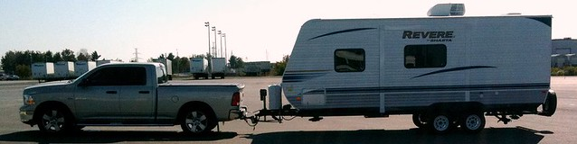 Travel Trailer Towing Wth Heater On