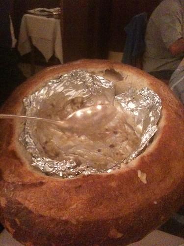Ai Gondolieri (el arroz lo servían en esta hogaza)