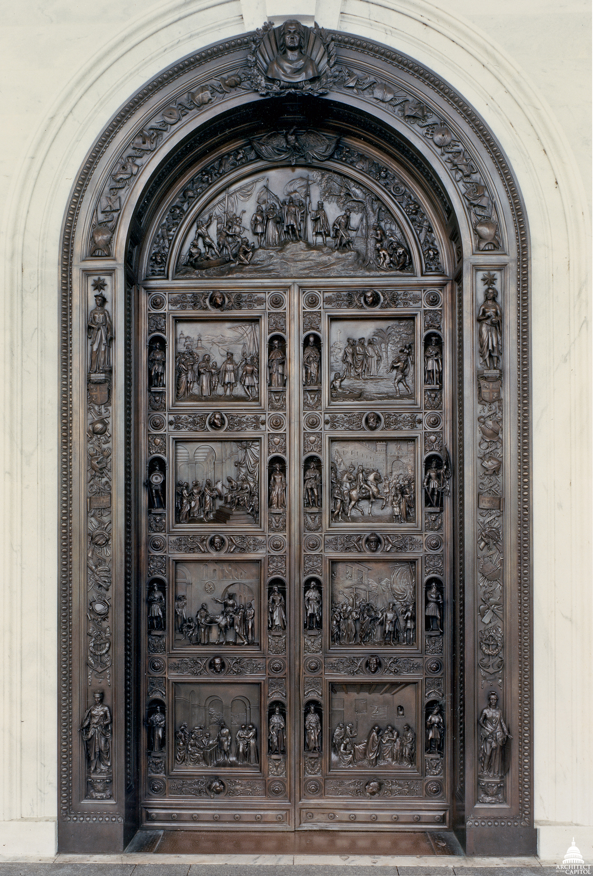 The columbus doors architect of the capitol united for Building door design