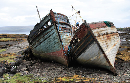 Abandoned fishing boats, Salen Bay, Mull