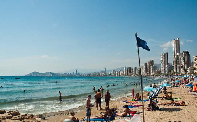 Beaches in Benidorm, Costa Blanca - Flickr CC flissphil